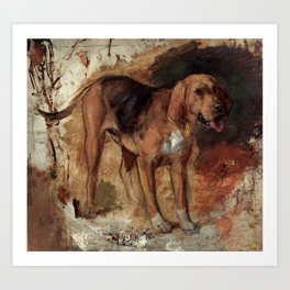 "William Holman Hunt ""Study Of A Bloodhound"" Art Print"