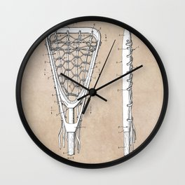 patent art Tucker Lacrosse stick 1967 Wall Clock