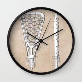 patent art Tucker Lacrosse stick 1967 Wall Clock