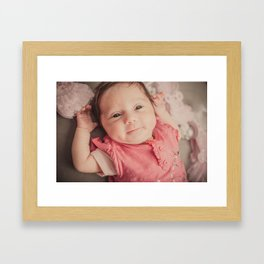 baby lila Framed Art Print