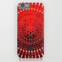 Red Flower Mandala iPhone Case