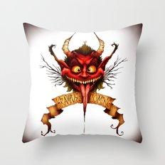 Krampus is Coming Throw Pillow
