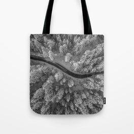 Snow pine forest Tote Bag