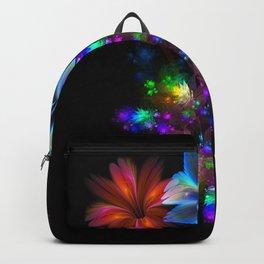 Fractal Flame Floral Arrangement Backpack