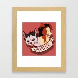 SMILE.jpg - Smile Dog Framed Art Print