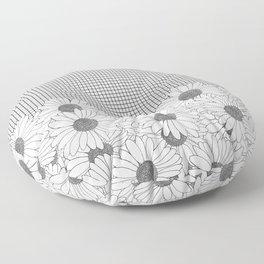 Daisy Grid Floor Pillow