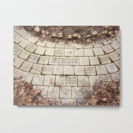 Memory Stones - Centennial Garden in Bettendorf, Iowa Metal Print