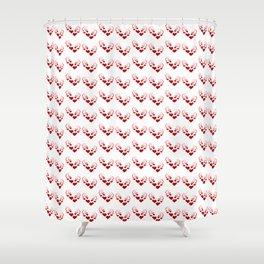 Crazy Heart Pattern Shower Curtain