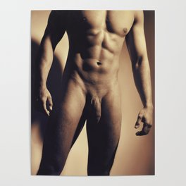 Man Naked showing his great muscular body Poster