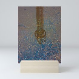 Reflection of Steel Tower on the Water Mini Art Print