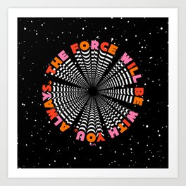 """""""The Force Will Be With You Always - Obi Wan Kenobi"""" by Tyler Spangler Art Print"""