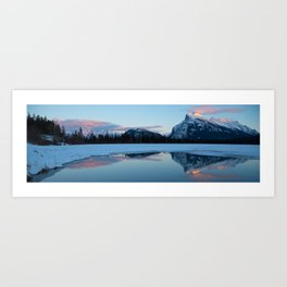 Banff Alberta, Rundle Mountain  Art Print