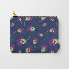Pasque Flower Pattern Carry-All Pouch