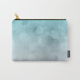 Aqua Turquoise Grey Soft Gradient Bokeh Lights Carry-All Pouch