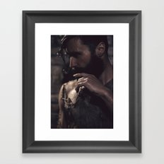 in darkness, there is light Framed Art Print