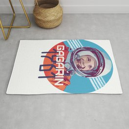 Yuri Gagarin first man in space Rug