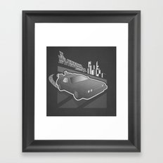 Don't Come-a Knockin Framed Art Print