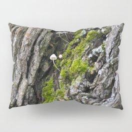 Tree trunk and mushrooms Pillow Sham