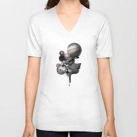 solar system V-neck T-shirts featuring solar system by PROJJETA