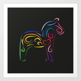 The dalecarlian horse - The heart of Esperanza Art Print