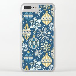 Christmas Ornaments and Snow Clear iPhone Case
