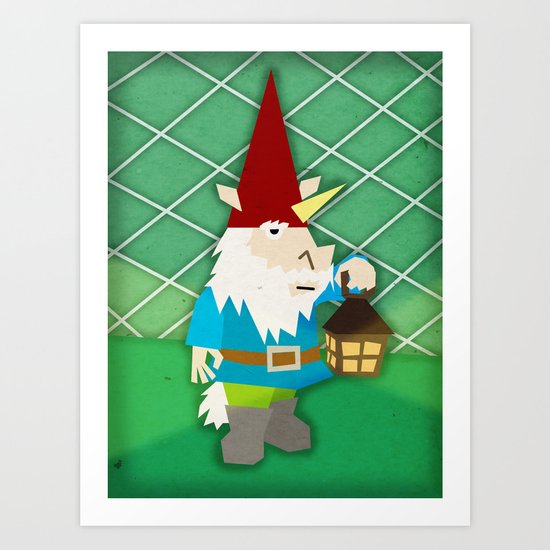 Gnome Unicorn Art Print