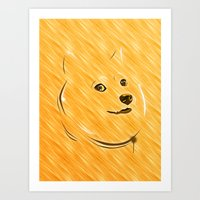 doge Art Prints featuring Doge by Creadoorm