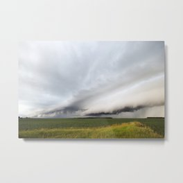 Beautiful Shelf Clouds Metal Print