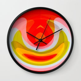 Leungs Color Burn Wall Clock