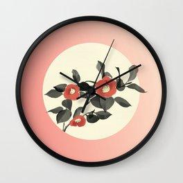 Camellias Bloom Wall Clock