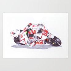 Ballpoint Pen, 58, Marco Simoncelli Art Print