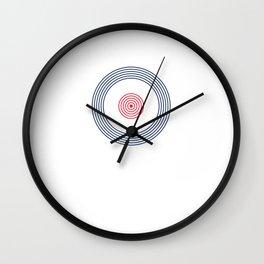 British Roundel Vinyl Record MOD 60s Britain Wall Clock