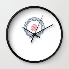 British Roundel Vinyl Record MOD 60s Britain Wall Clock