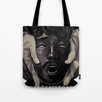 will graham Tote Bags featuring Graham by Frank Odlaws
