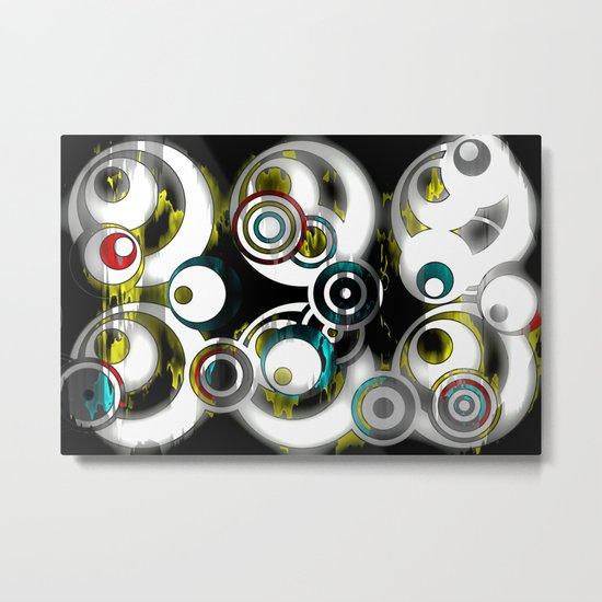 Retro Circles  Metal Print