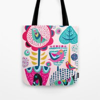 magic the gathering Tote Bags featuring Gathering by Rachel Lee