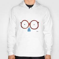 glasses Hoodies featuring Glasses by Phil McAndrew