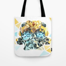 Bumblebee Low Poly Portrait Tote Bag