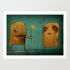 Wood He Love Me? Art Print