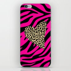 Leopard Zebra Love iPhone Skin