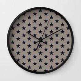 Superstars Black on WarmGray Medium Wall Clock