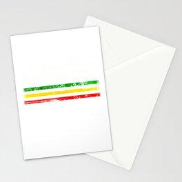 African American flag design Gift Africa Rasta Reggae Flag Stationery Cards
