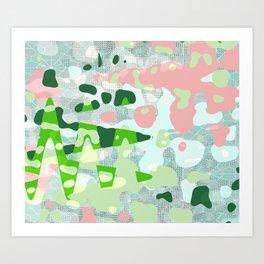 Watermelon Splat Matrix Art Print