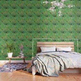 Hummingbird and orange agastache 51 Wallpaper