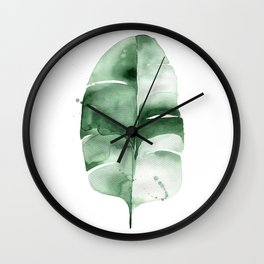 Banana Leaf no. 6 Wall Clock