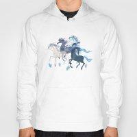 unicorns Hoodies featuring Running Unicorns by Sumi Illustrator