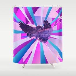 Stardust Owl Crystal Flare Shower Curtain