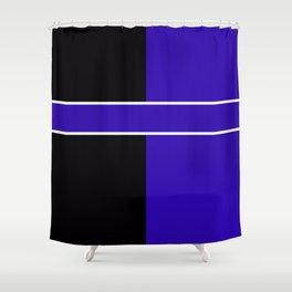 Team Colors 6...Blue,black Shower Curtain