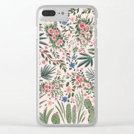 Desert Palm Clear iPhone Case
