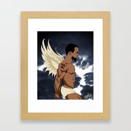 Winged Creature Two Framed Art Print